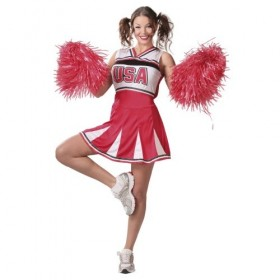 DISFRAZ CHEERLEADER ADULTA T-L